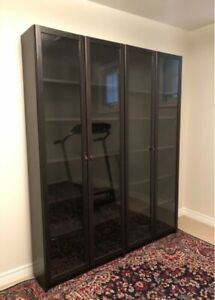 Ikea Billy Bookcases x2  (black/brown) $150each