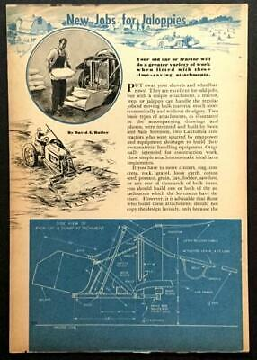 Front End Loader - Tractor Scoop - Bucket Lift 1946 How-to Design Build Plans