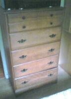 Solid Maple Dresser and Desk