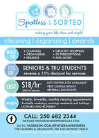 Cleaning and Organizing Services