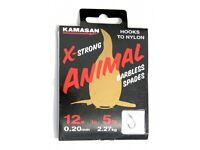 KAMASAN ANIMAL BARBLESS HOOK TO NYLON