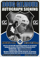 Doug Gilmour Signing At Cloutsnchara Sports Card Store