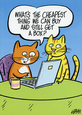 Birthday Shop (Cats Shopping Online Funny Birthday Card - Greeting Card by Oatmeal)