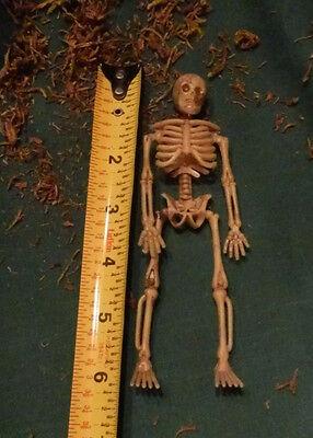Small Plastic Skeletons (2 Skeleton Set - 6 Inch Miniature Plastic Small Halloween Dollhouse Fairy)