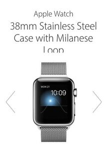 Apple iWatch (Watch) 38mm Stainless Case/Stainless Milanese Band