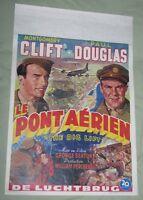 THE BIG LIFT 1950 MOVIE POSTER (BELGIUM) CLIFT