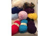 Wool Bundle & Crochet Needles