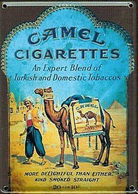 Camel Cigarettes metal postcard / mini sign  110mm x 80mm  (hi)