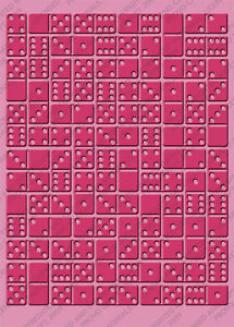 Cuttlebug 5x7 Dominos Embossing Folder - $10