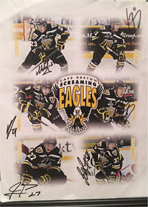Page Full of Signatures From the Cape Breton Screaming Eagles