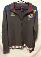 Mens Buffalo David Bitton Patchwork Track Style Sweater -Medium