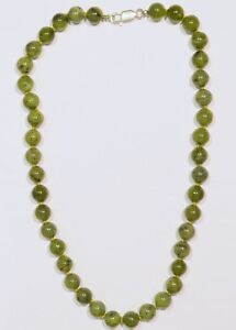 Jadeite  Natural green Necklace Apprsd $1096 Brand new !