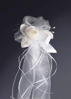 2x Hochzeits Blumen Dekoration für die Kirche für Bänke und Stühle FARBWAHL NEU ()