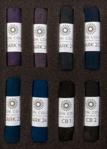 Unison Artist Quality Soft Pastels Midnight Colours Set of 8