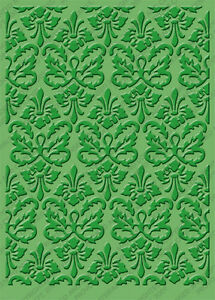 "Cuttlebug 5""x7"" KASSIE'S BROCADE embossing folder-$9"