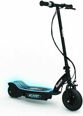 Razor Bicicleta Eléctrica E100 Glow Eléctrico Scooter, Negro, 13173831 Usada