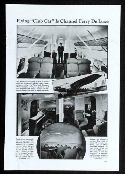 Air France Farman F224 1937 Luxury Airliner pictorial