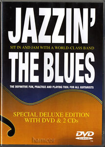 Jazzin' The Blues Jazz Guitar Tuition DVD & 2CDs of Backing Playalong Jam Tracks