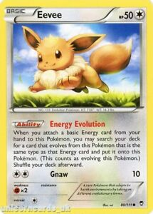 Eevee 80/111 LBD Common Mint Pokemon Card