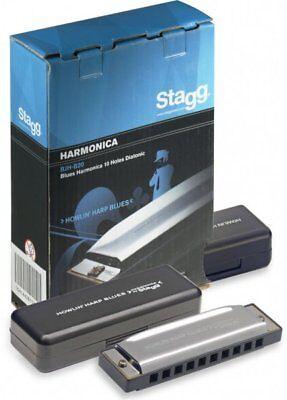 Stagg Howlin Harp Tremolo Diatonic Harmonica in C major BJH-T32
