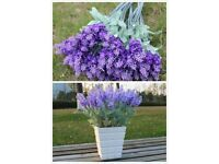 Artificial Fake Lavender Silk Flowers Bouquet Plant Home Wedding Party Decor