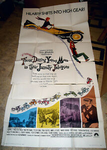 VERY RARE 1969 ANTIQUE AUTO CAR RACE RACING MOVIE THEATER POSTER