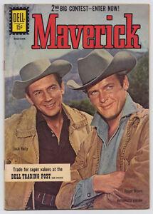 1961 MAVERICK #17 DELL WESTERN COMIC ROGER MOORE COVER VF VF+