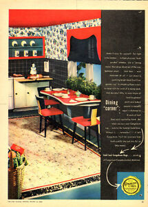 Large 1948 full-page ad for Congoleum Flooring