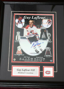 GUY LAFLEUR FRAMED SIGNED NHL ALUMNI PHOTO