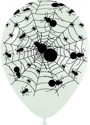 Scary Halloween Balloons (10 Spider Web Air Helium Balloons 12