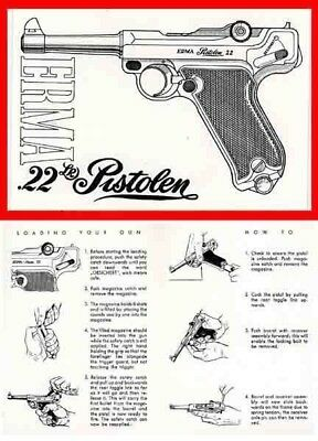 Erma Luger .22 Pistol Manual c1965