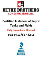 Septic Tank/Septic Field/Holding Tank/Trenching