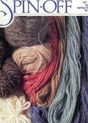 Spin-off magazine Spring 1985: cashmere; damask knitting