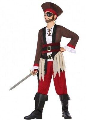 Kostüm Junge Pirat der Karibik 5/6 Jahre Kind Folie Neu Billig
