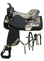 New Western Saddle Package - Black & Camo from Cowboys Tack Stop