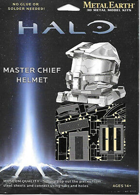 HALO Game Master Chief Helmet Metal Earth 3-D Laser Cut Steel Model Kit