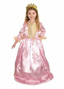 GIRLS-DELUXE-PRINCESS-PINK-TUDOR-MEDIEVAL-ELIZABETHAN-QUEEN-FANCY-DRESS-COSTUME