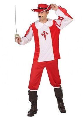 Déguisement Homme MOUSQUETAIRE Rouge S D'Artagnan cinéma Film NEUF pas - Mousquetaire Kostüm