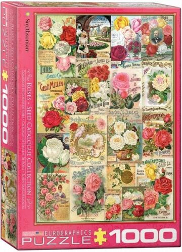 Eurographics 1000 Piece Jigsaw Puzzle - Roses Seed Catalogue