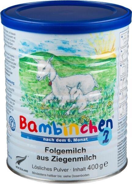 Bambinchen 2 Säuglingsnahrung, 12 Dosen im Sparpack, Ziegenmilch Babynahrung