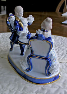 Limoges Figurine of Aristocrats Having Afternoon Tea Kitchener / Waterloo Kitchener Area image 5