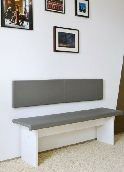 XXL Wandkissen 150cm Montageset Kunstleder 100.000 Scheuertouren made in Germany