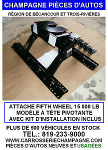 ATTACHE FIFTH WHEEL, SELETTE FLAMBANT NEUVE 15 000 LB