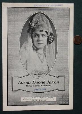 1930 Muncie,Indiana Ball State University Lorna Doone Jaxon Opera program-RARE!