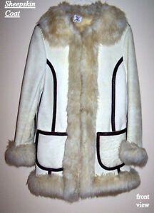 Styled Lady's Sheepskin Coat, vintage, excellent condition, S