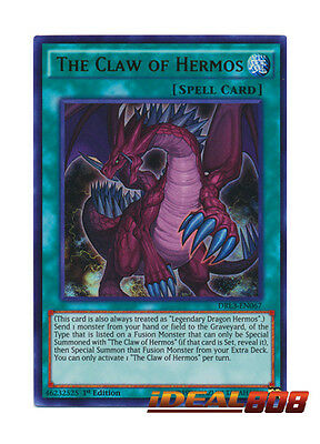 YUGIOH x 1 The Claw of Hermos - DRL3-EN067 - Ultra Rare Near Mint