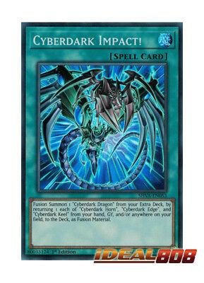 x3 Cyberdark Impact! SHVA-EN053 1st Edition Yu-Gi-Oh Super Rare M//NM