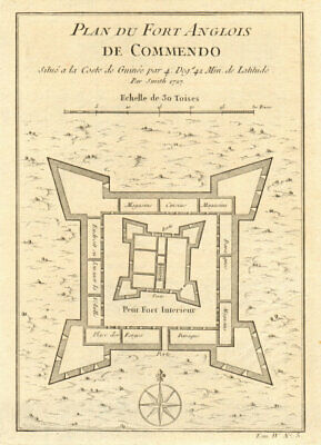'Plan du Fort Anglois de Commendo'. Ft Komenda, Ghana Gold Coast BELLIN 1747 map