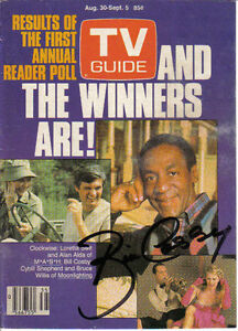 TV Guide & 2 Photos  Autog By Bill Cosby.