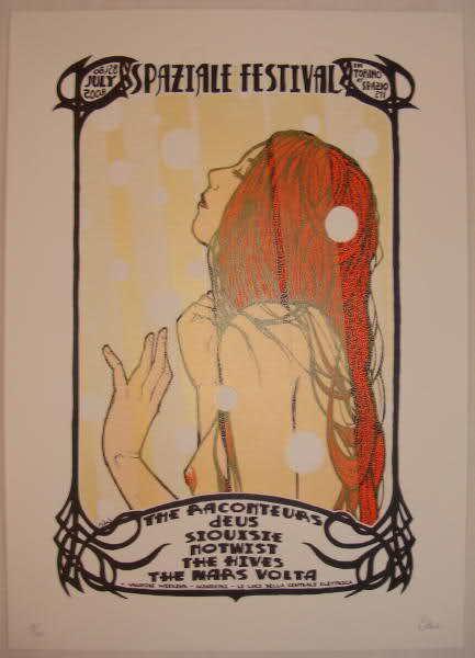 2008 Mars Volta & Raconteurs - Torino Silkscreen Concert Poster by Malleus